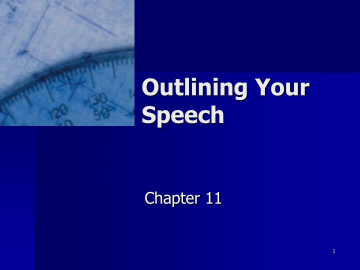 outlining your speech n.