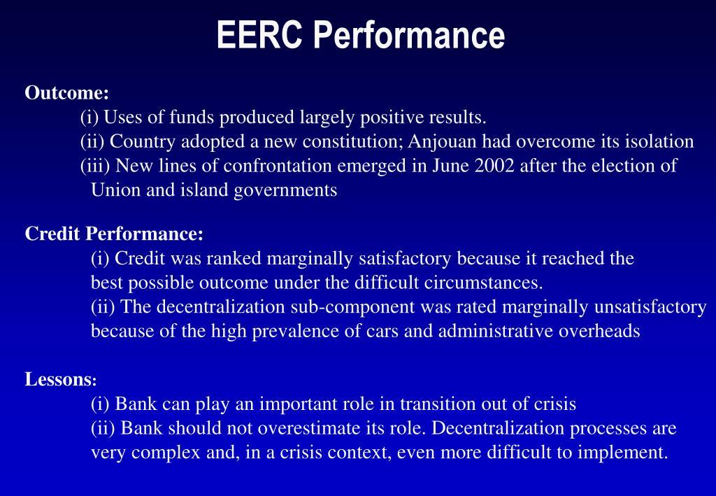 EERC Performance