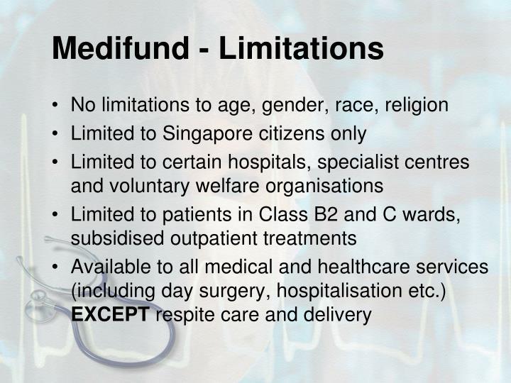 Medifund - Limitations