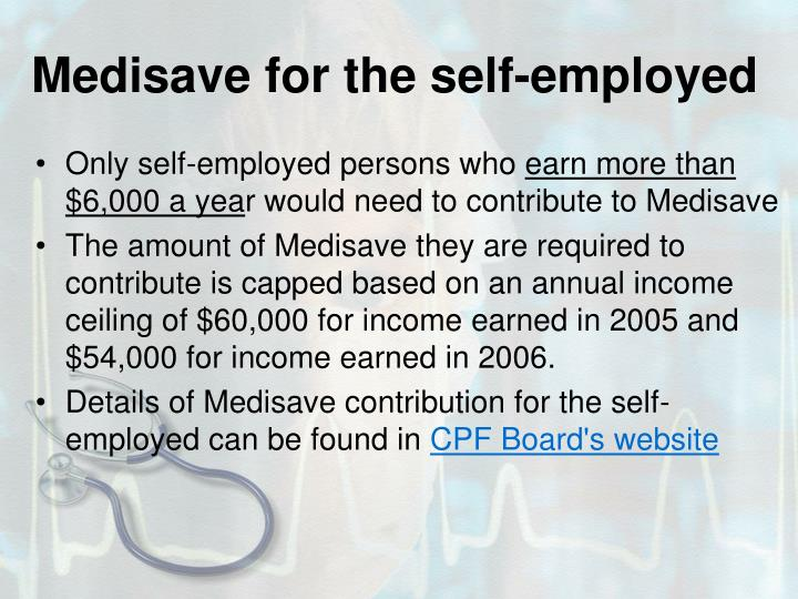 Medisave for the self-employed