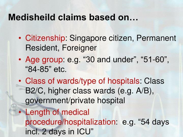 Medisheild claims based on…
