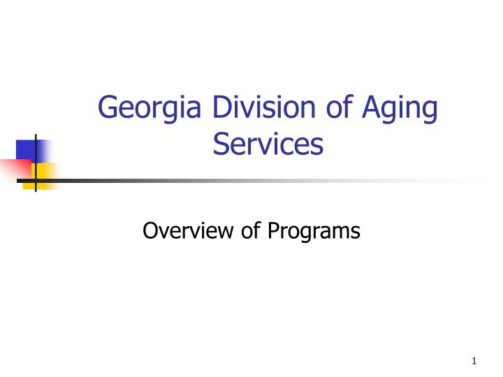 georgia division of aging services n.