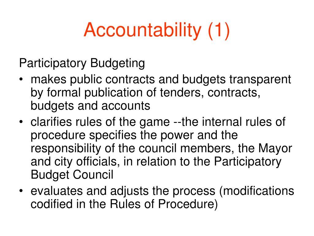 Accountability (1)
