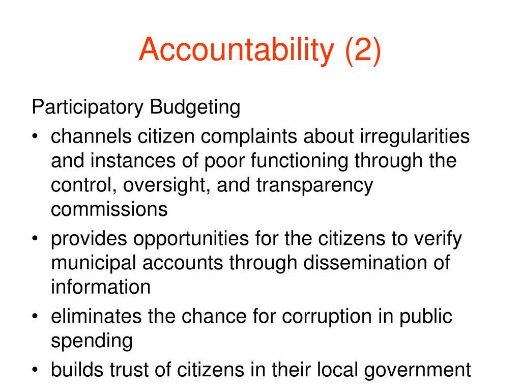 Accountability (2)