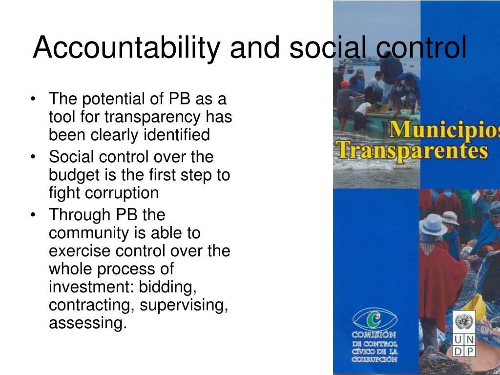 Accountability and social control
