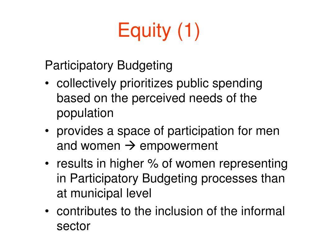 Equity (1)