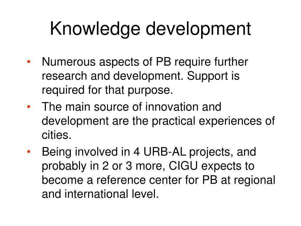 Knowledge development