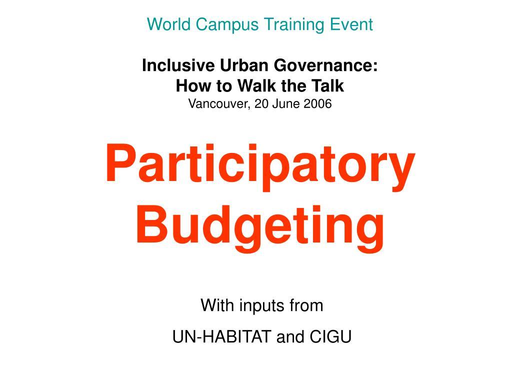 World Campus Training Event