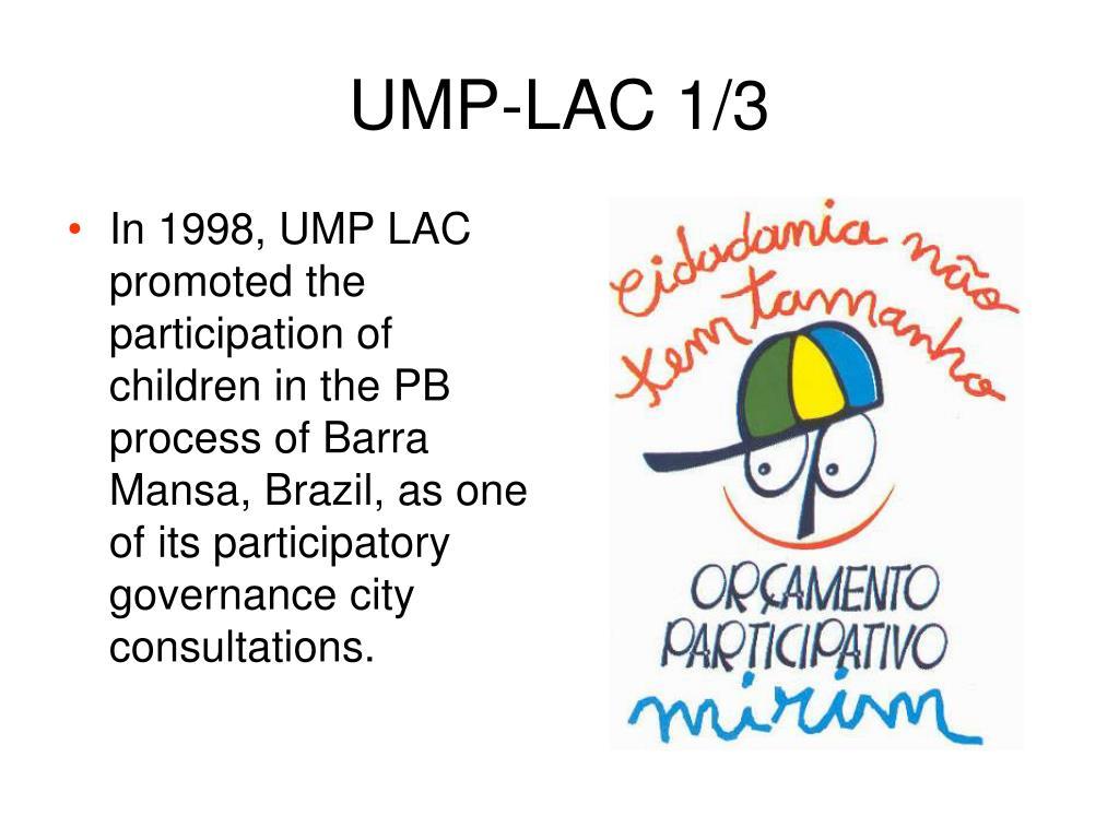 UMP-LAC 1/3