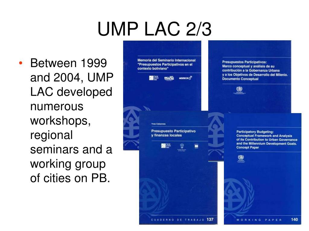 UMP LAC 2/3