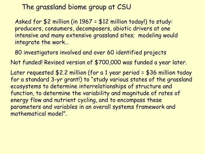 The grassland biome group at CSU