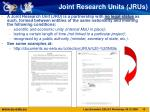 joint research units jrus