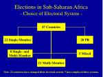 elections in sub saharan africa choice of electoral system