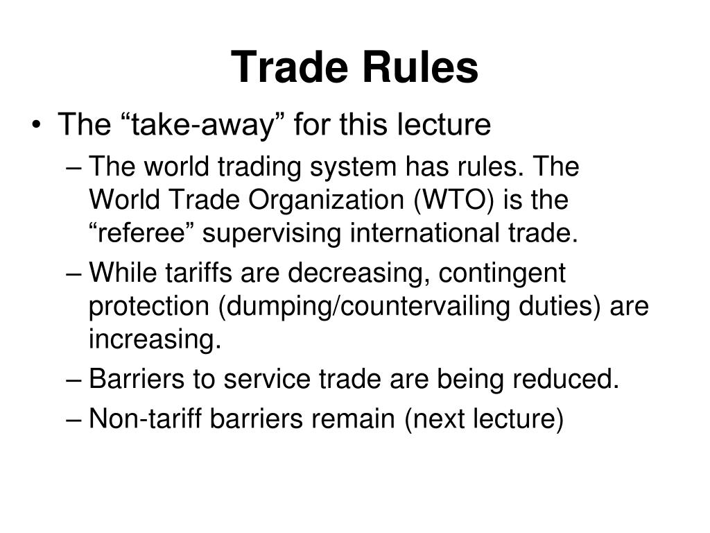 trade rules l.