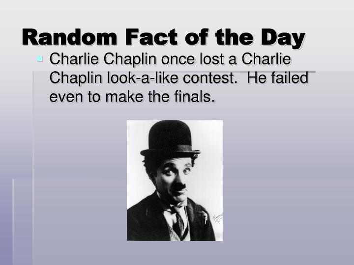 random fact of the day n.