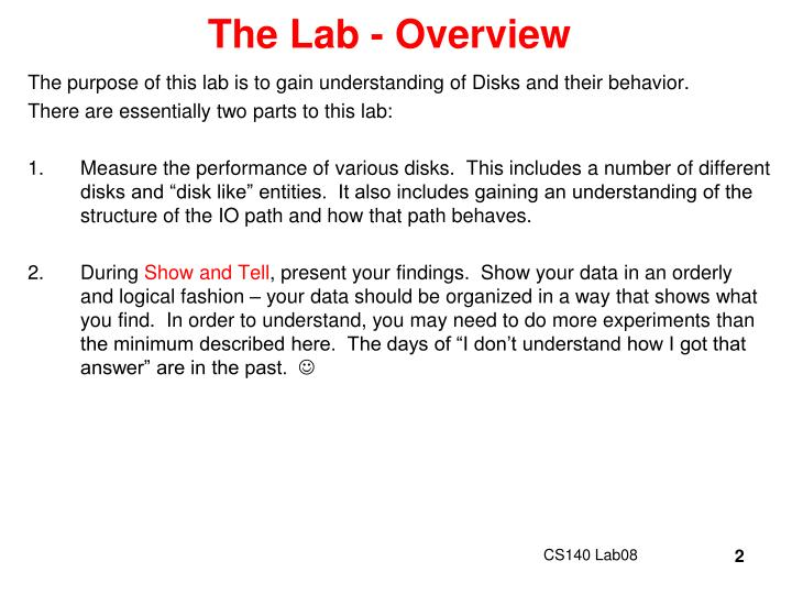 The lab overview
