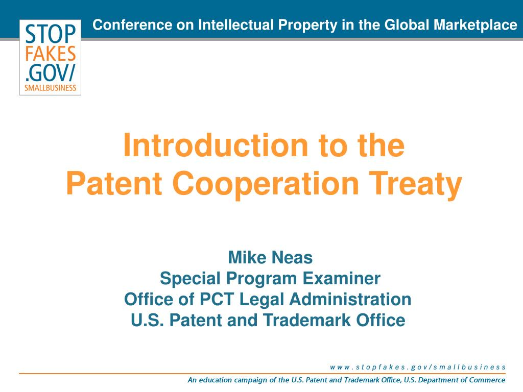 introduction to the patent cooperation treaty l.