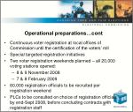 operational preparations cont