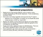 operational preparations