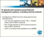 to operate and maintain sound financial management systems including internal controls