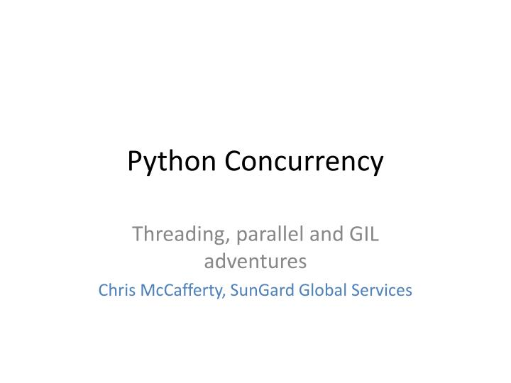python concurrency n.