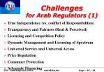 challenges for arab regulators 1