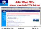 rru web site http www itu int itu d treg