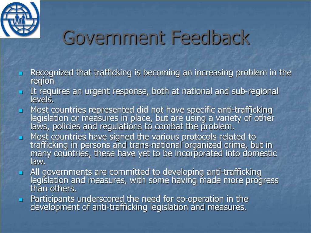 Government Feedback