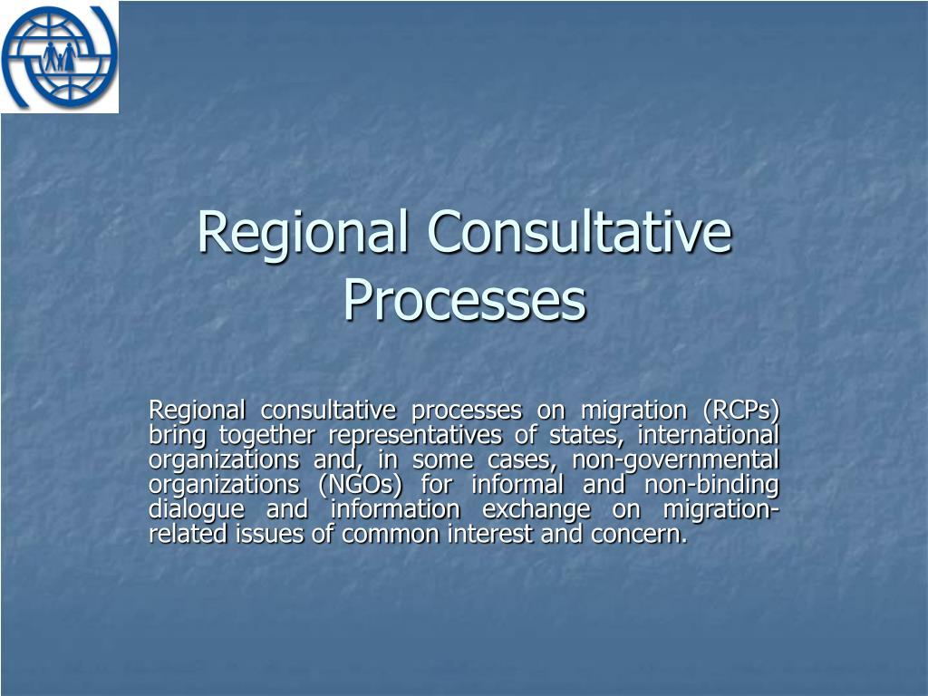 Regional Consultative Processes