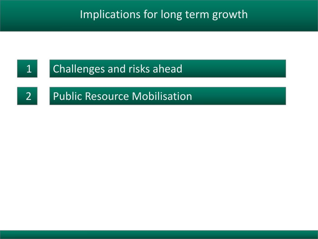 Implications for long term growth