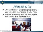affordability 2