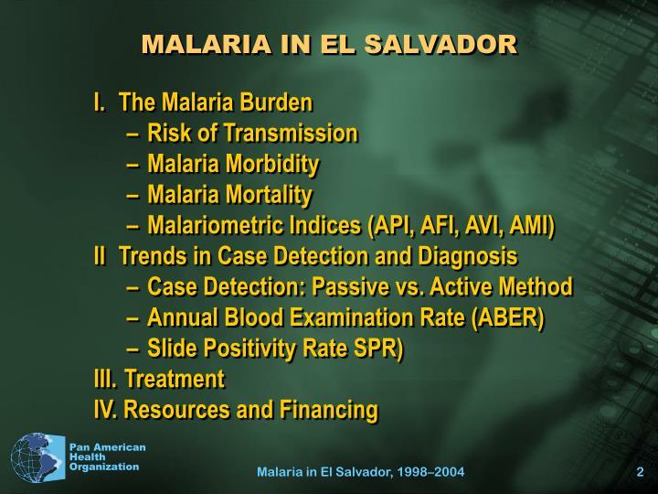 Malaria in el salvador