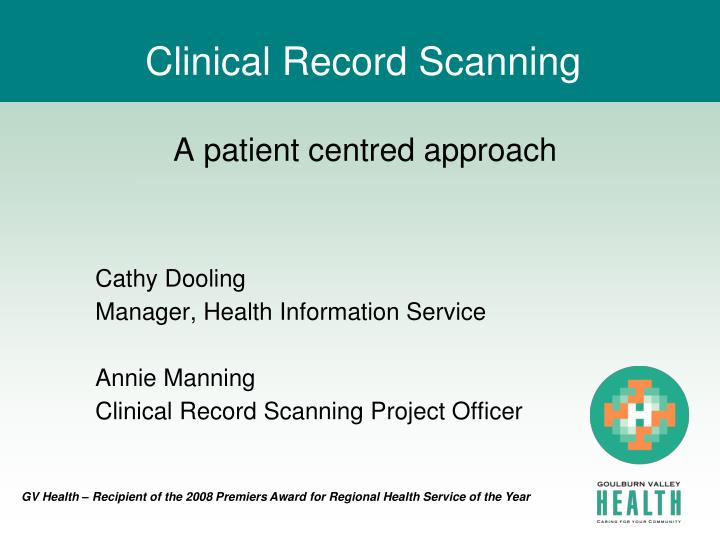 clinical record scanning n.
