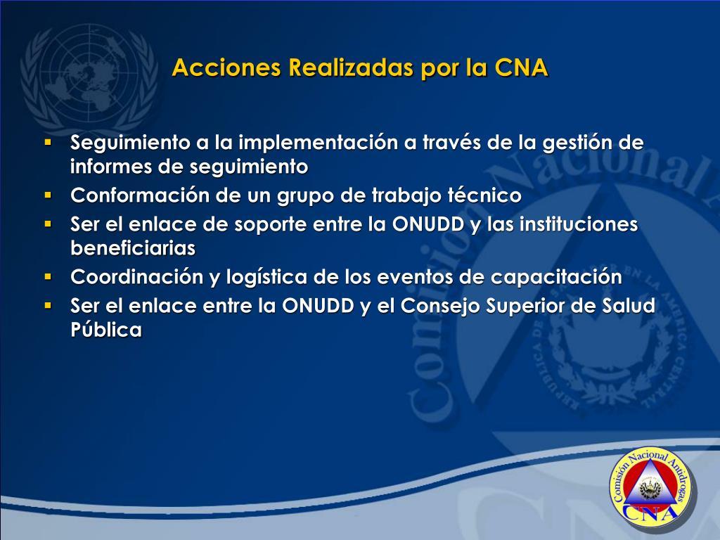 Acciones Realizadas por la CNA