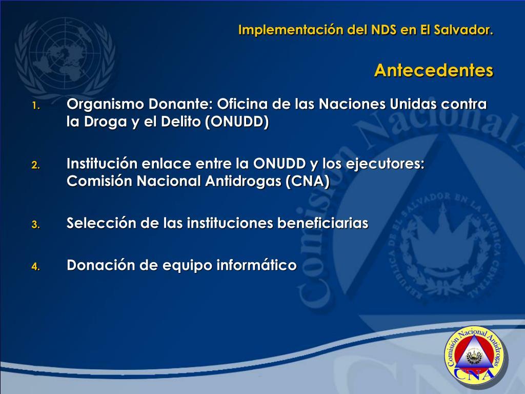 Implementación del NDS en El Salvador.