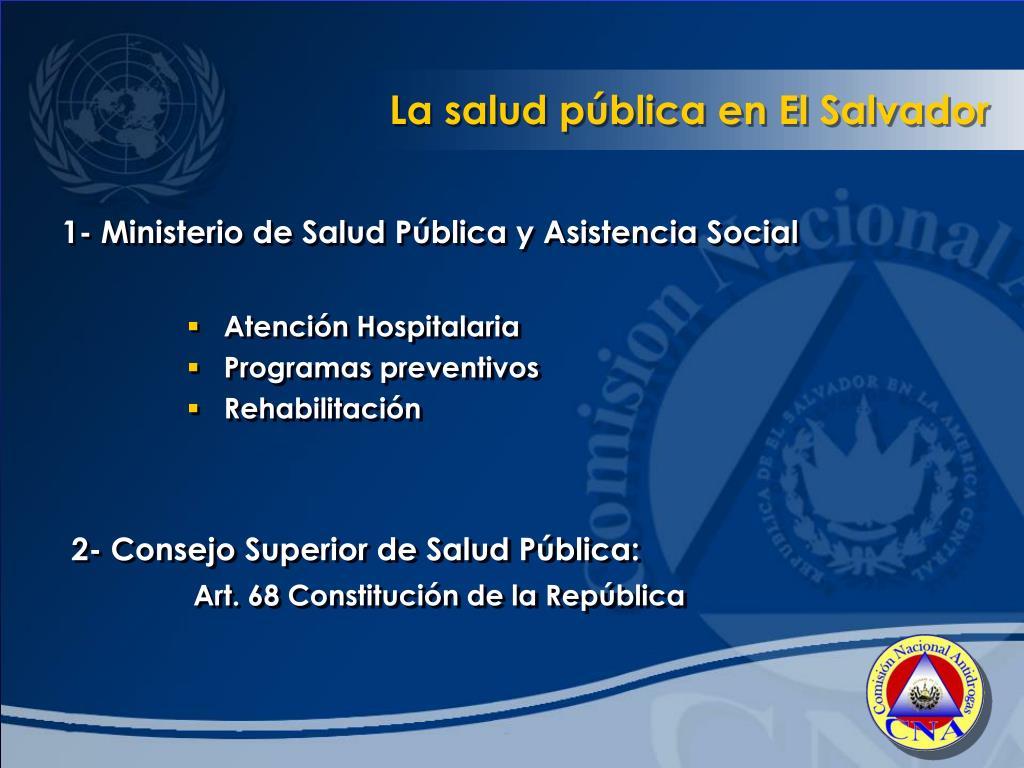 La salud pública en El Salvador