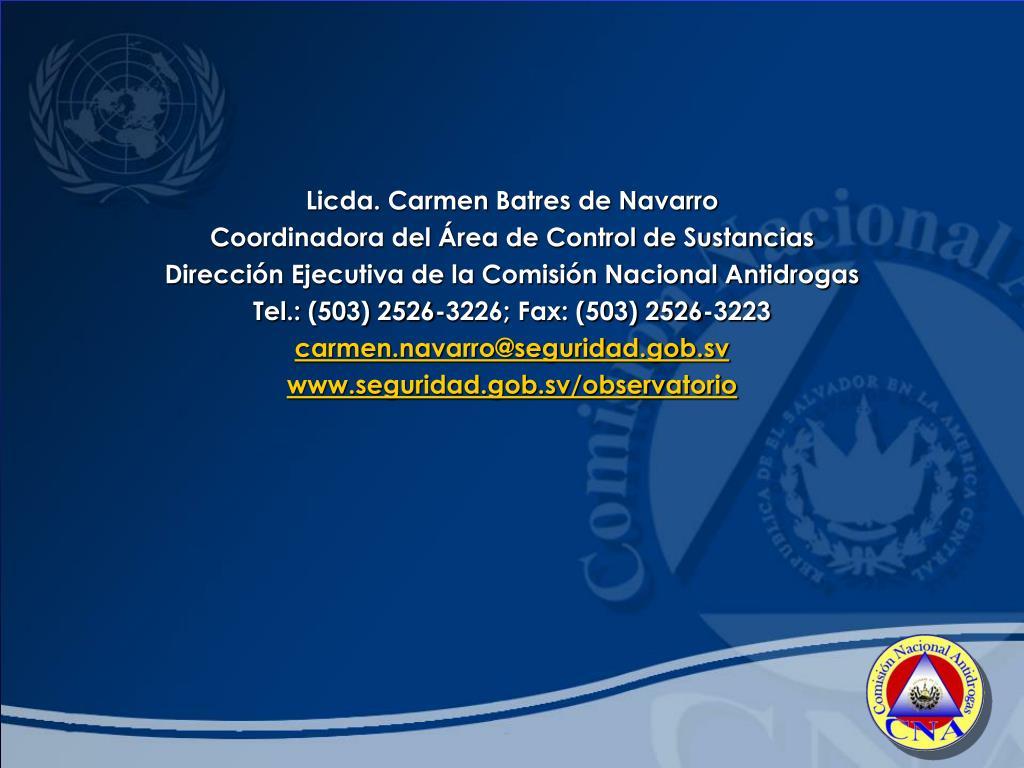 Licda. Carmen Batres de Navarro