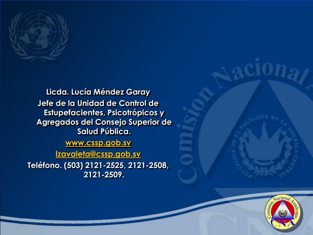 Licda. Lucía Méndez Garay