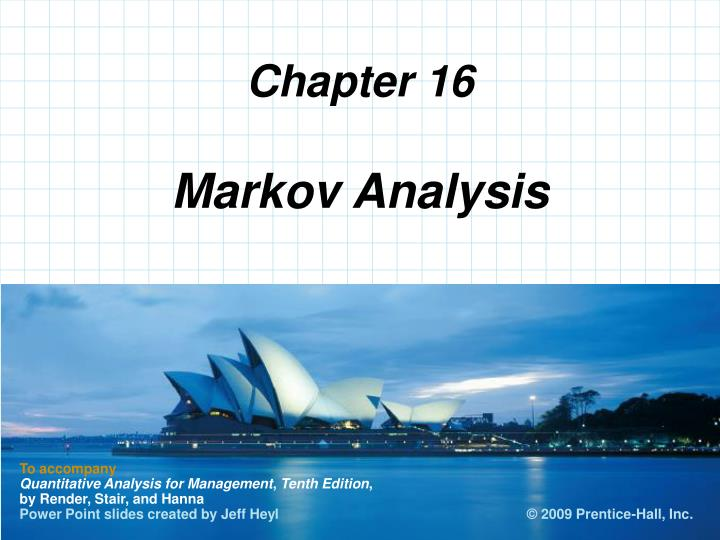 markov analysis n.