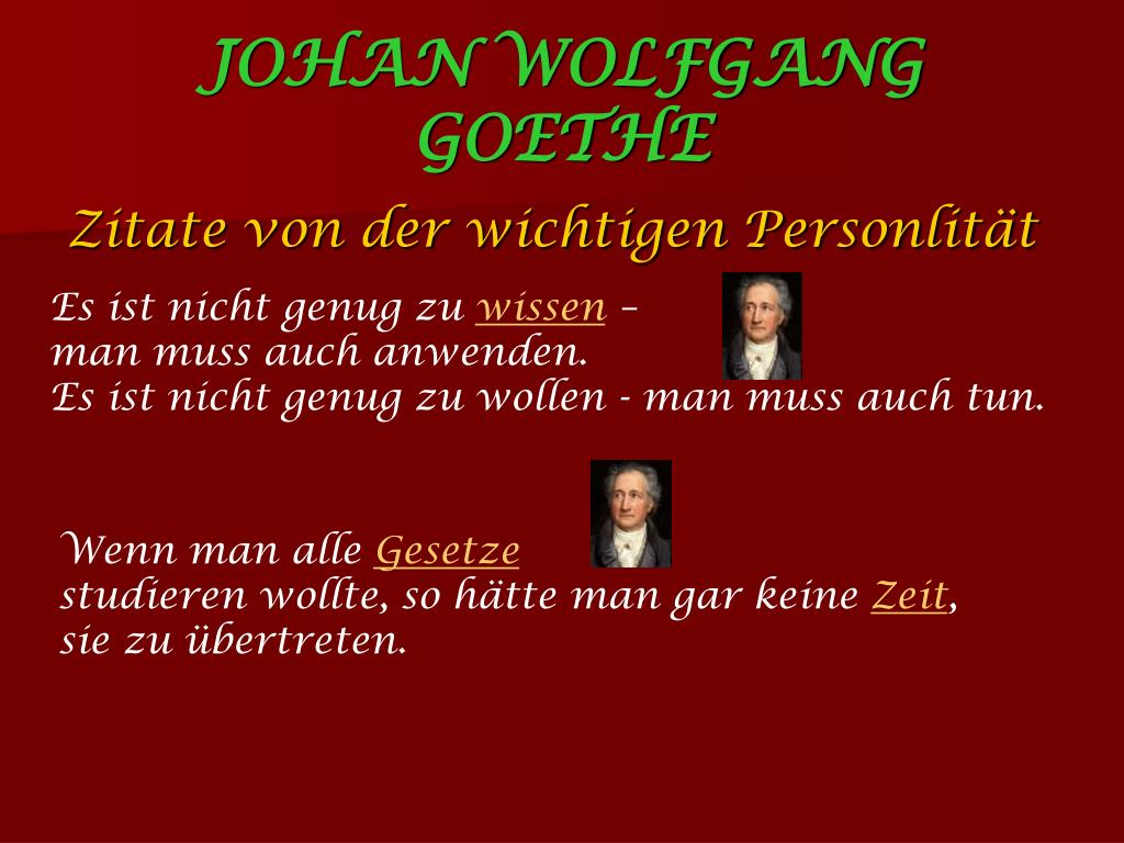 Ppt Johan Wolfgang Von Goethe Powerpoint Presentation