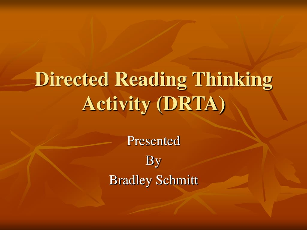 Ppt Directed Reading Thinking Activity Drta Powerpoint