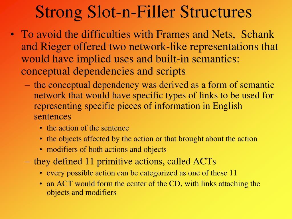Strong Slot-n-Filler Structures