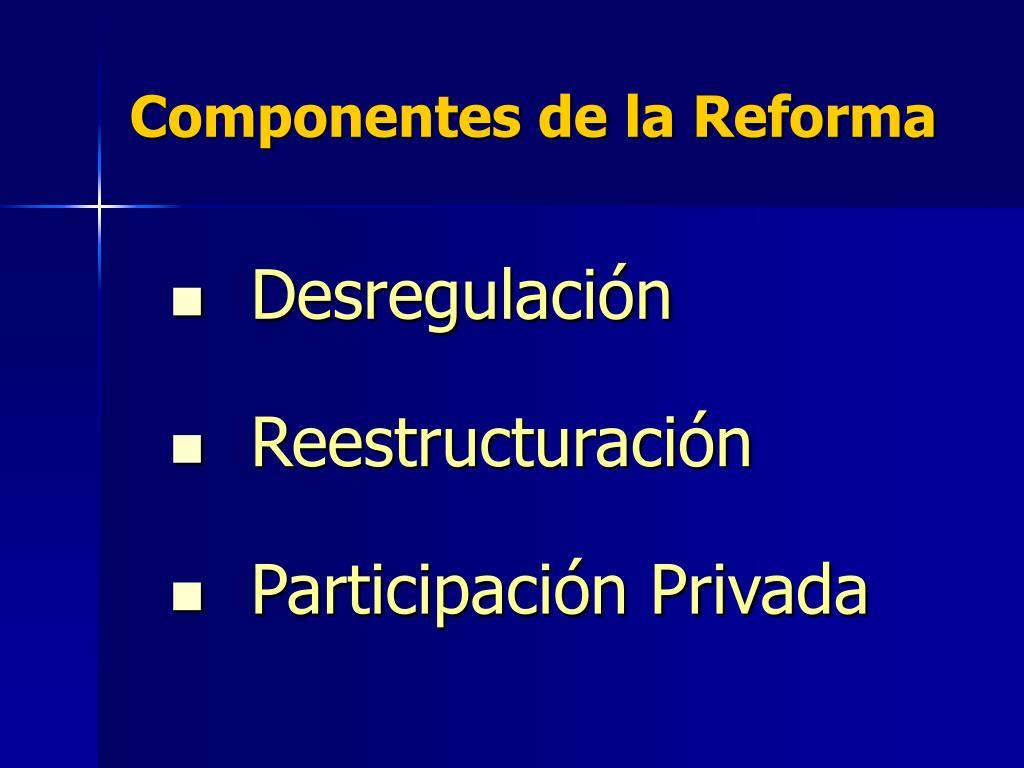 Componentes de la Reforma