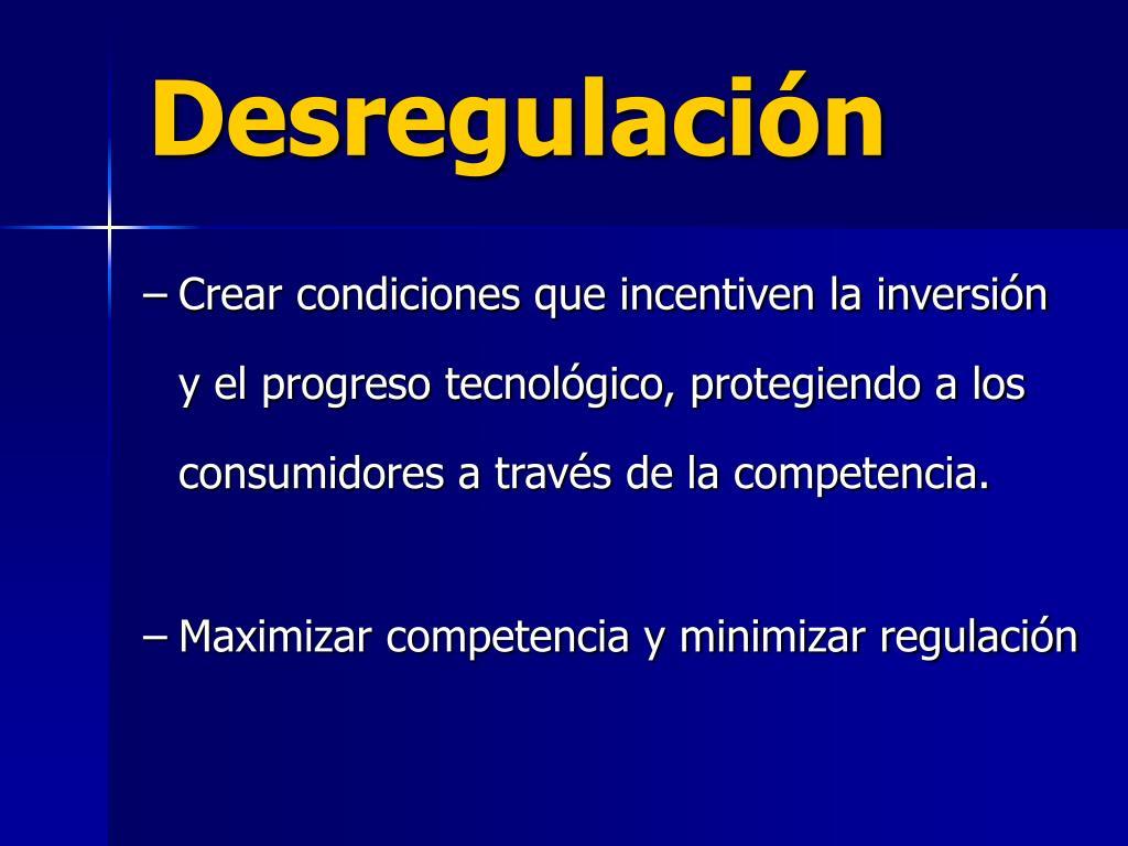 Desregulación