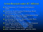 action research makes ic 2 different