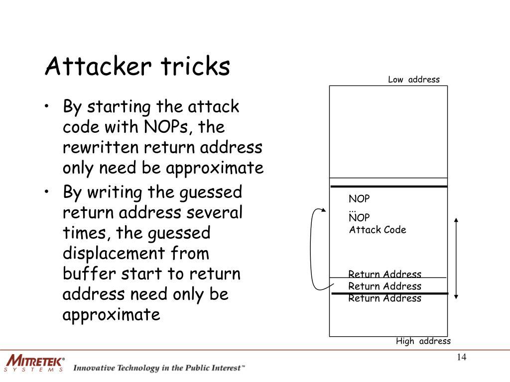 Attacker tricks