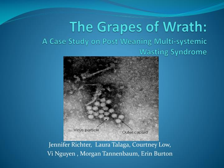 The grapes of wrath a case study on post weaning multi systemic wasting syndrome