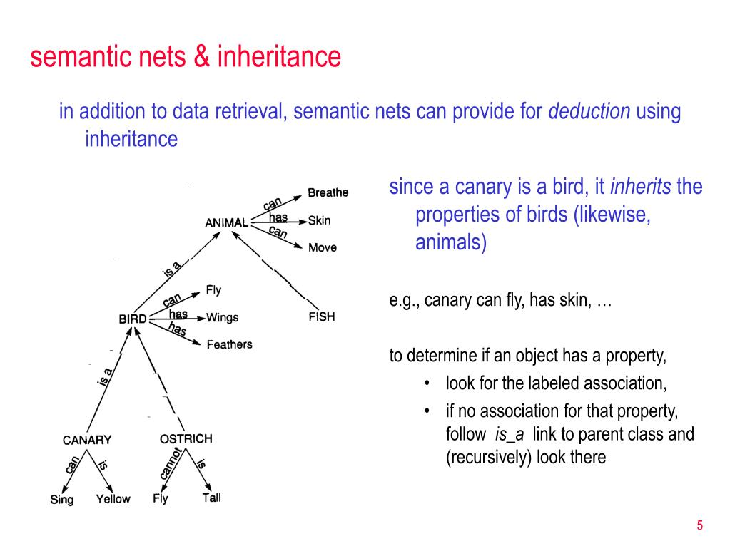 semantic nets & inheritance