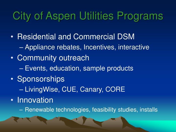 City of aspen utilities programs
