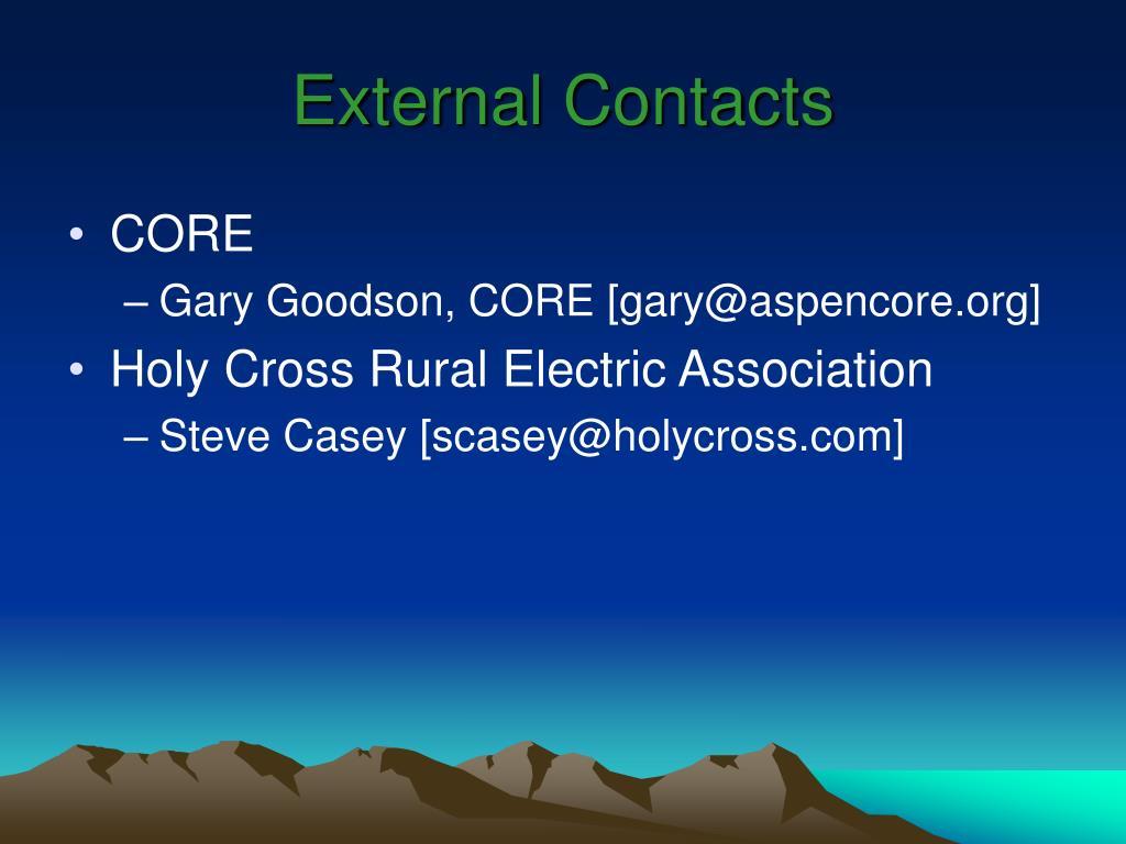 External Contacts